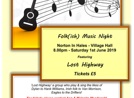 Folk(ish) Music Night - 1st June @ 8:00PM