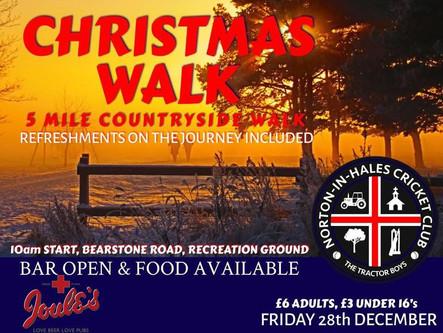 Christmas walk: Friday 28th December