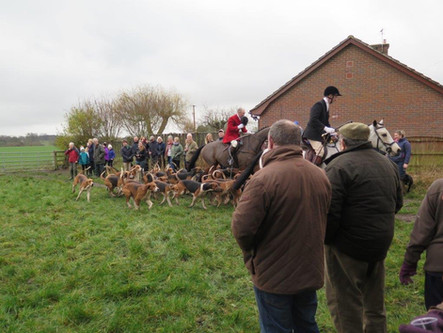 The North Staffordshire Hunt Meet on New Year's Day 2019