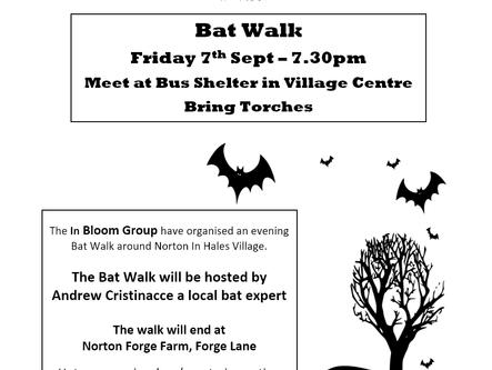 Fri 7th Sept @ 7:30PM - Bat Walk