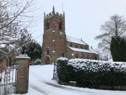 A snowy Norton In Hales