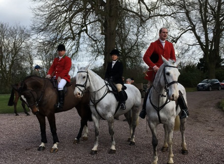 The North Staffordshire Hounds Meet at Oakley Hall on Saturday 16 February 2019