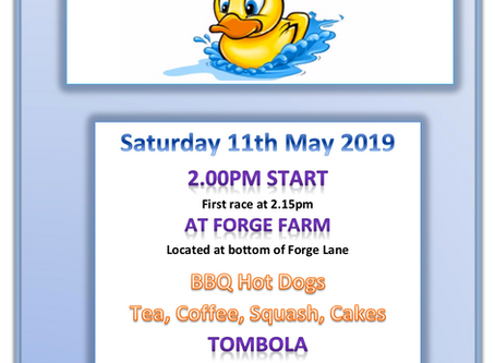 Duck Race! - May 11th @ Forge Farm - Updated