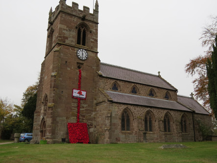 St Chad's decorated for Remembrance Sunday