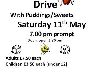 Knighton Village Hall Beetle Drive - Sat 11th May @ 7PM