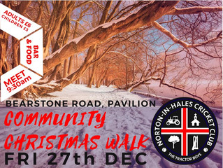Cricket Club Christmas Walk - 27th December @ 9:30AM