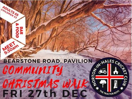 Cricket Club Christmas Walk - 27th December @ 9:30AM