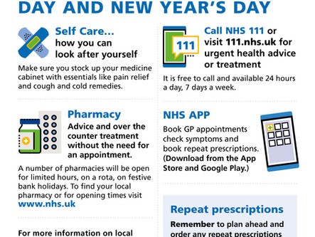 Christmas and New Years Medical Information