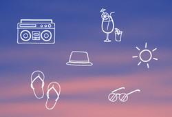 Icônes d'été Affiche