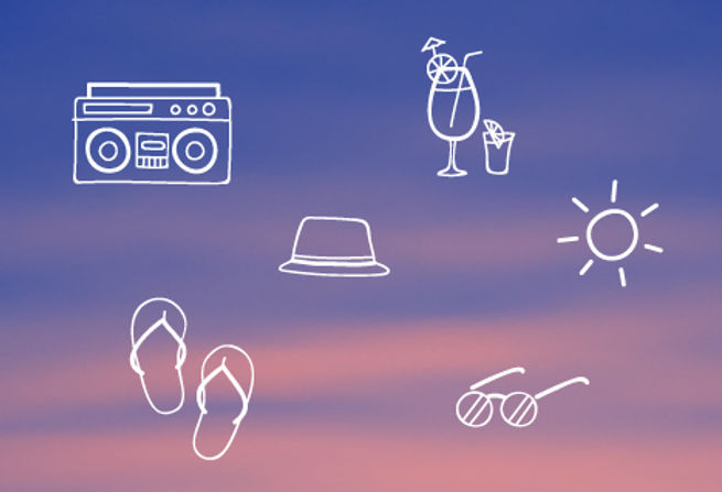 Summer Icons Poster