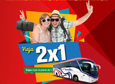 2x1: Viaja de Barranquilla a Cartagena