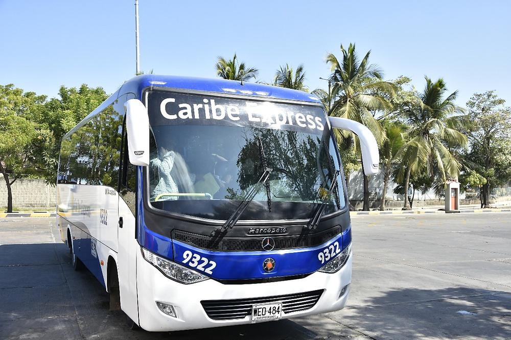 Uno de los nuevos buses Caribe Express de Unitransco.