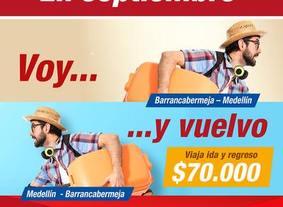 Voy y Vuelvo: Medellín – Barrancabermeja.