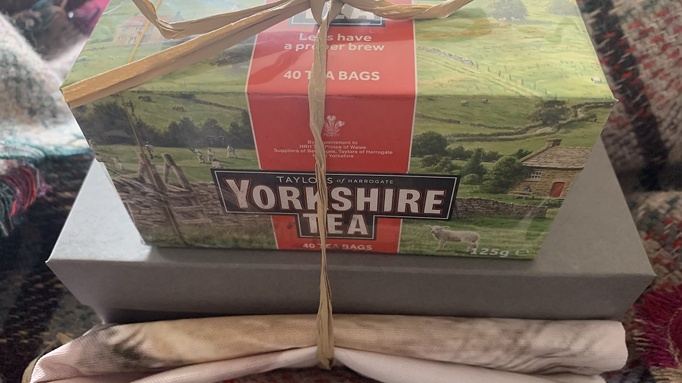 Yorkshire Afternoon Tea- JulieArnoldArt Teatowel, preserves and tea