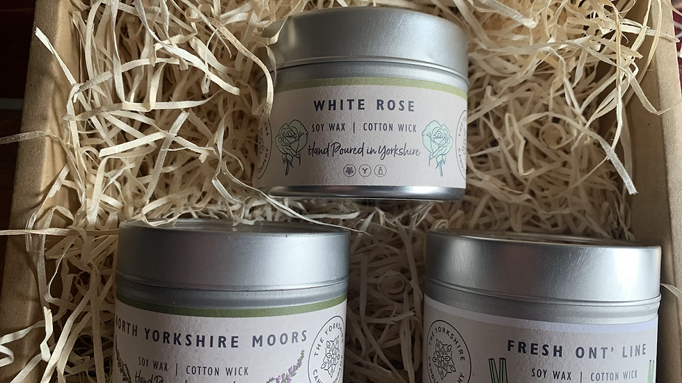 Stack of 3 Yorkshire Candles