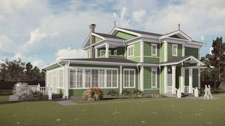 Индивидуальный жилой дом 520-433м