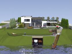 Жилой дом у реки