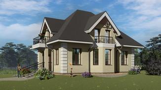 Индивидуальный жилой дом 154-143м