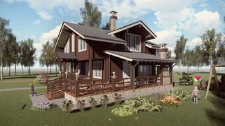 Индивидуальный жилой дом 222-154м