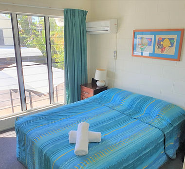 Mango Tree Holiday Apartments Port Douglas accommodation townhouse master bedroom