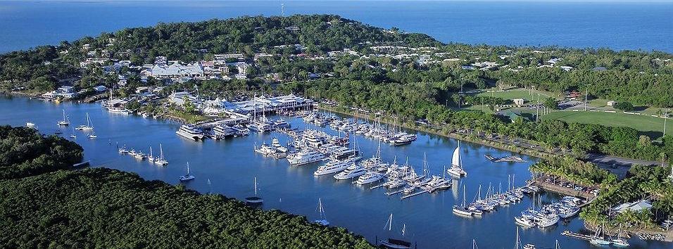 Port Douglas and Crystalbrook Superyacht Marina aerial view