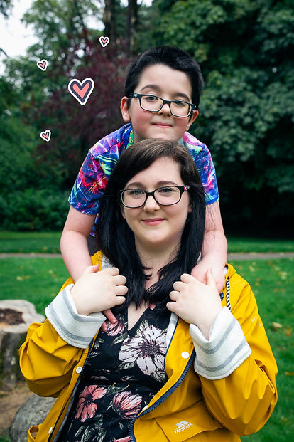 Chase the Rainbow Resources owner Hannah Kelsall and son