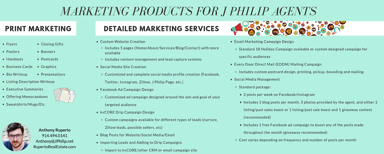 marketing products for j philip agents.p