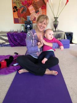 Faye enjoying Mommy & Baby Yoga