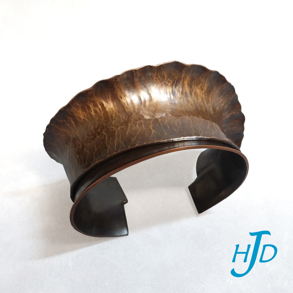 Folded and Hammered Copper Cuff Bracelet, 2004