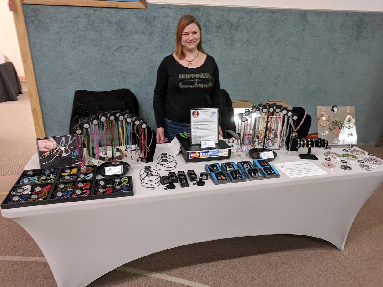 Hooray Jen Design Booth at a U.P. Craft Fair