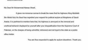 Did Saudi King really deny an asylum to ex-Prime Minister Nawaz Sharif? | FactNama