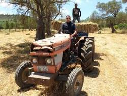 Sur mon tracteur,