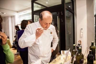 One Chef tasting the olive oil
