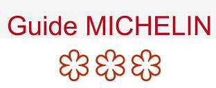 3 stars on the Michelin Guide