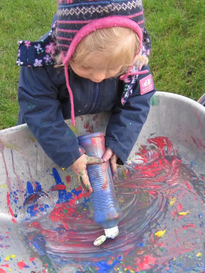 This week- Shadow, colour, shape and a wheelbarrow!