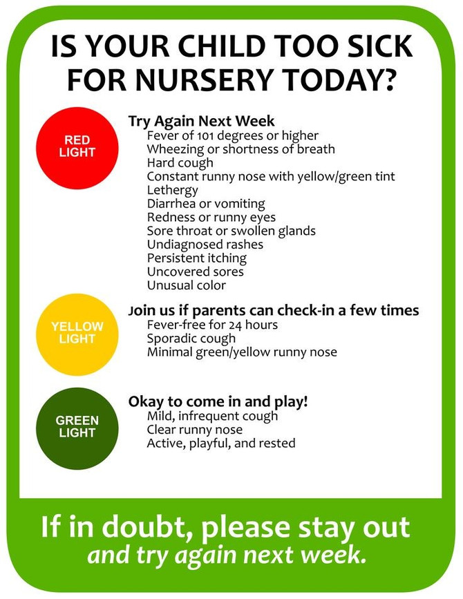 Is your child too sick for nursery?