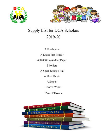 Supply List for DCA Scholars 2019-2020.j