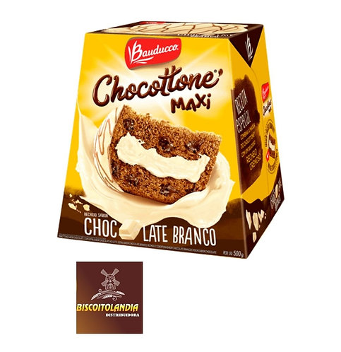 Chocottone Maxi Chocolate Branco Bauducco 500g