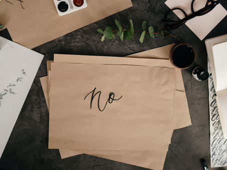 """Learning how to say """"no"""" and setting healthy boundaries."""