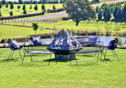 rustic elegance fire pit curves and edge