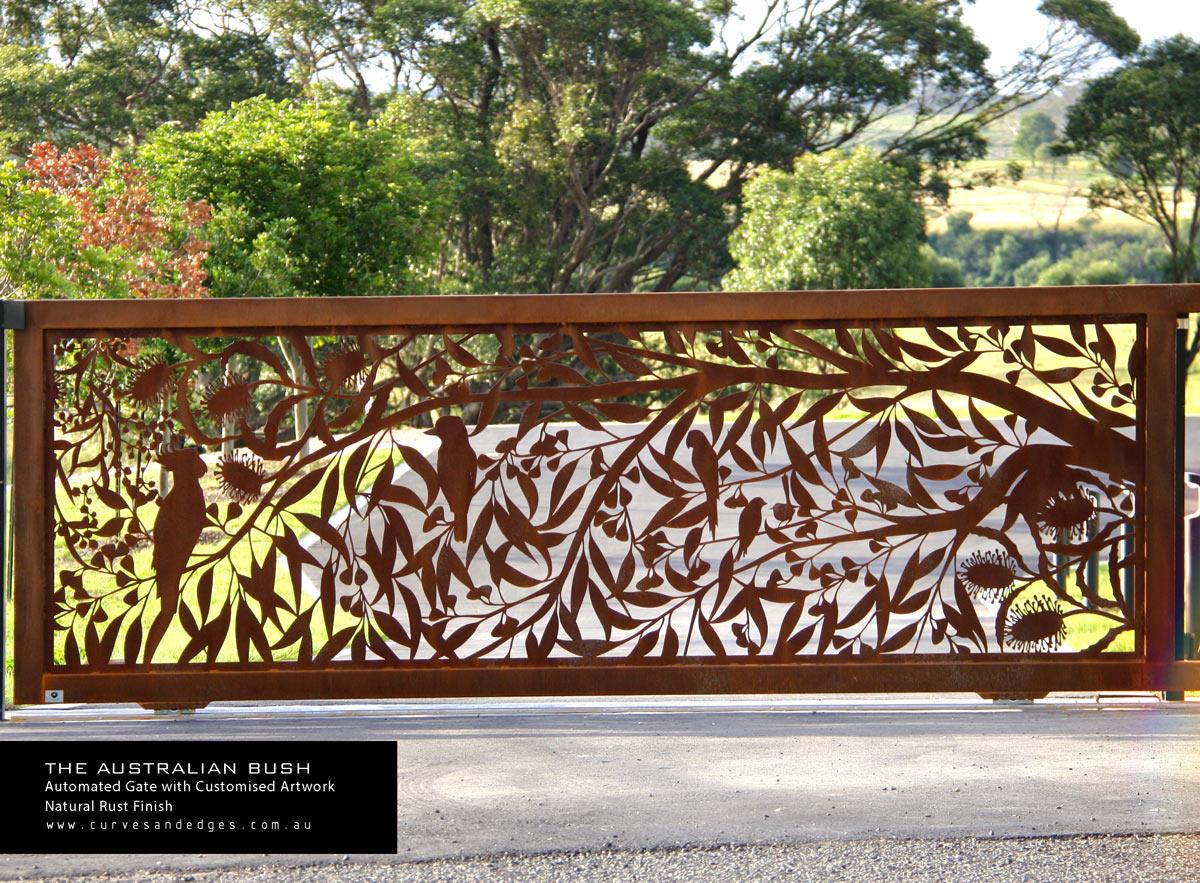 The Australian Bush Metal Art by Curves