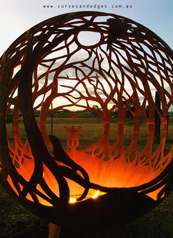 Curves and Edges Fire Pit Sphere - artis