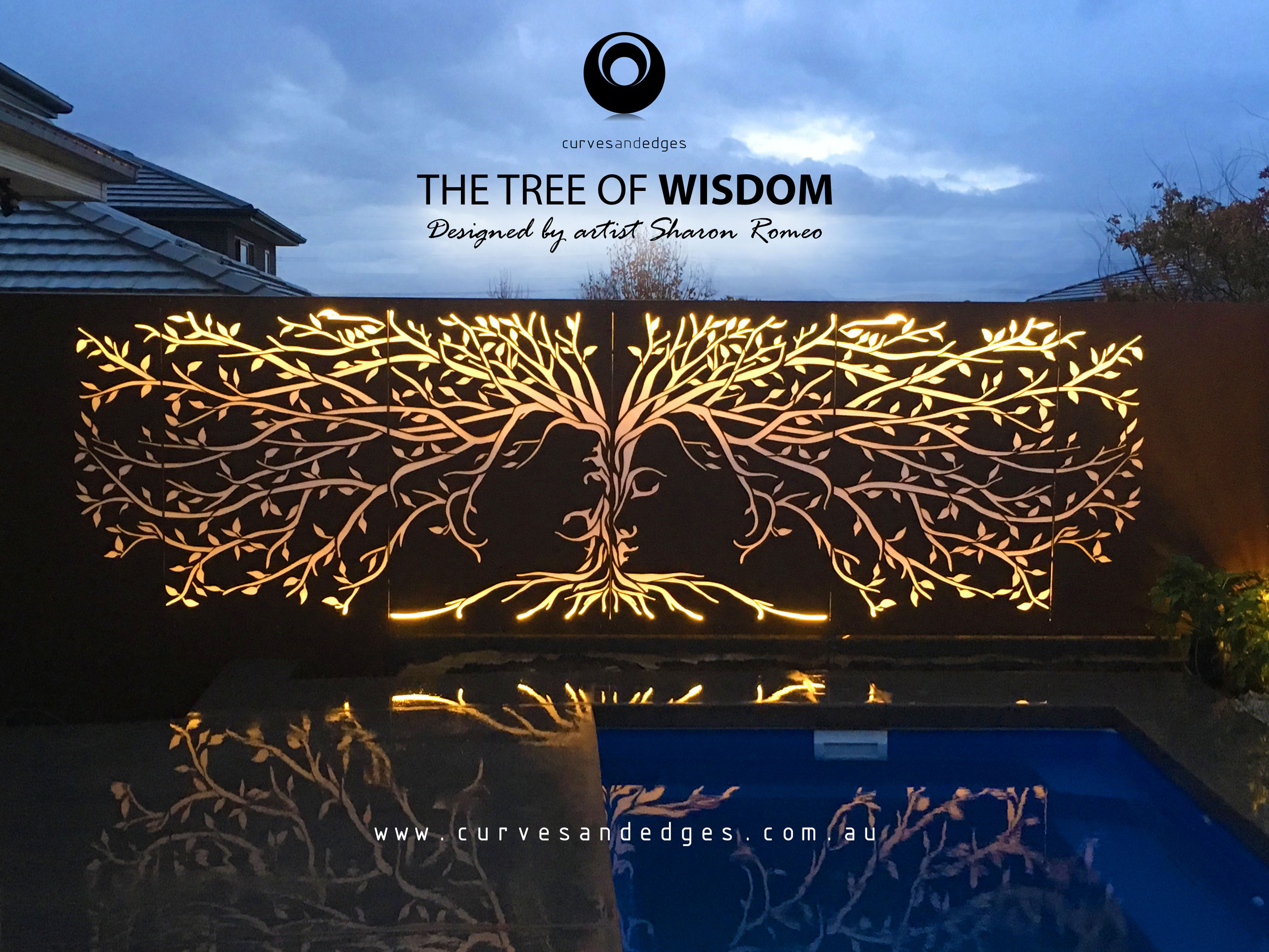 The Tree of Wisdom Privacy Screen