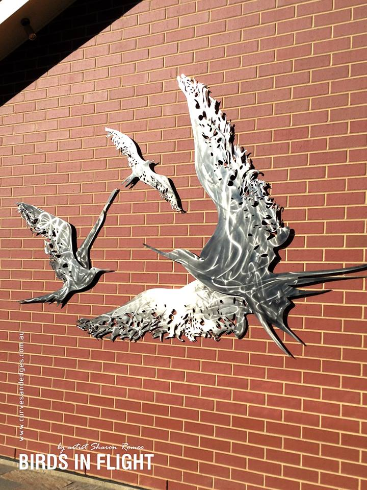 'Birds In Flight' wall sculpture