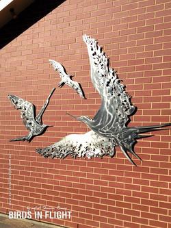 'Birds In Flight' wall sculpture
