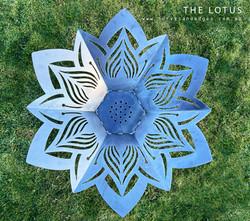 Lotus Flower fire Pit, Artist Sharon Romeo Curves and Edges Metal Art2
