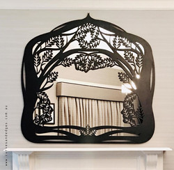 Custom metal mirror artist sharon romeo
