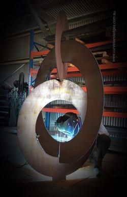 Balanced Circles Sculpture