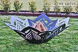 Lotus Flower fire Pit, Artist Sharon Romeo Curves and Edges Metal Art7.jpg