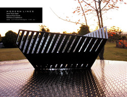 Modern Lines Fire Pit